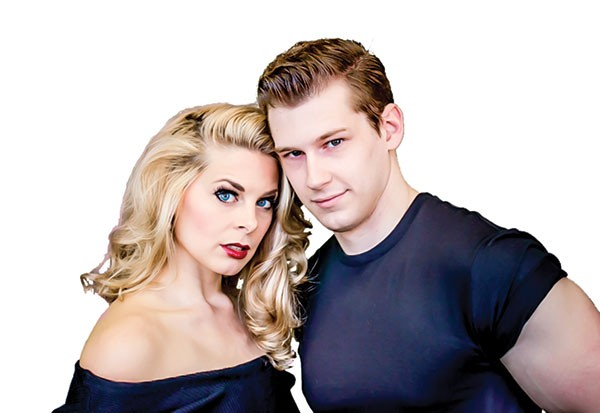 Lara Hayhurst and Ricky Gee in Grease at Pittsburgh Musical Theater