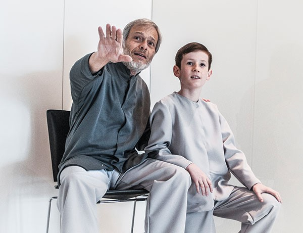 Ken Lutz (left) and Will Sendera in Prime Stage's The Giver