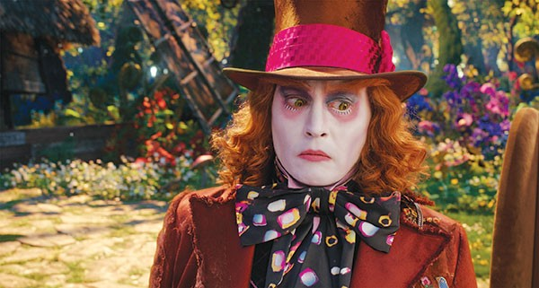Watch me quirk: Johnny Depp as the Mad Hatter