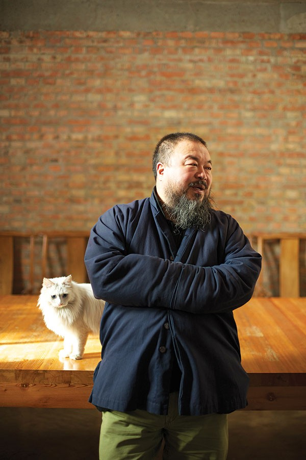 Ai Weiwei and feline friend