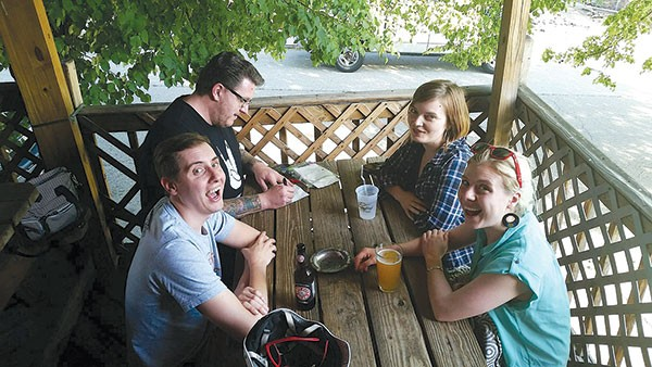 One stop along the CP bar crawl: Lou's Corner Bar, in Bloomfield