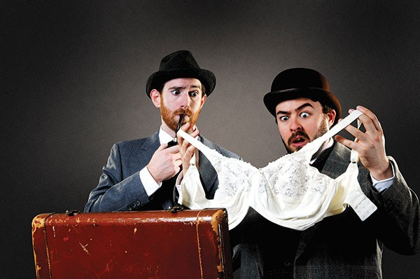 Luke Halferty (left) and Quinn Patrick Shannon in The 39 Steps at CLO Cabaret