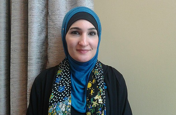 Linda Sarsour, executive director of the Arab American Association of New York, spoke at Local Progress' national meeting about combating Islamophobia. - PHOTO BY ASHLEY MURRAY