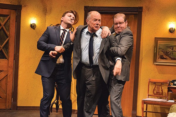 From left to right: Tom Kolos, Mark Yochum and Eric Mathews in The Summer Company's Come Back, Little Sheba