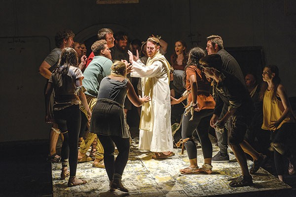 Stage 62's Jesus Christ Superstar, with Jeff Way (center) as Jesus