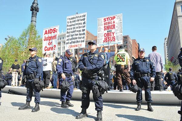 Police monitoring Cleveland's Public Square