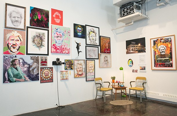 Hey, it's that guy: installation view of John Riegert, at SPACE