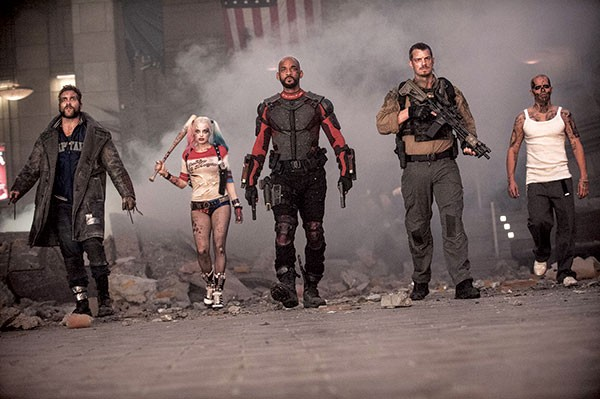 Walk this way: Boomerang (Jai Courtney), Harley Quinn (Margot Robbie), Deadshot (Will Smith), Rick Flag (Joel Kinnaman) and Diablo (Jay Hernandez)