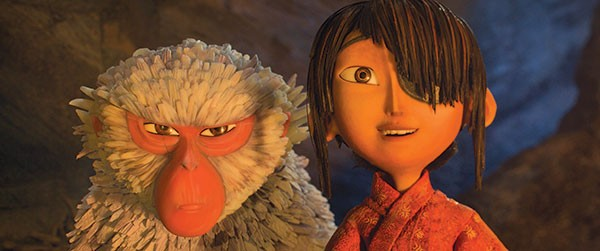 On a quest: Kubo (right), with his snow monkey