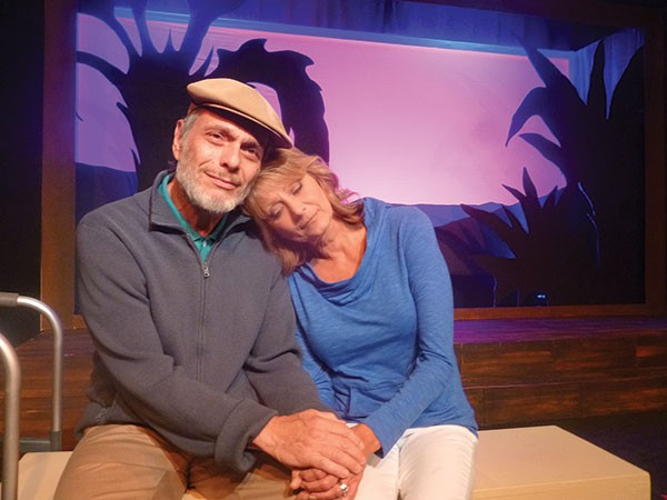 Ken Lutz and Cindy Swanson in Better Late, at South Park Theatre