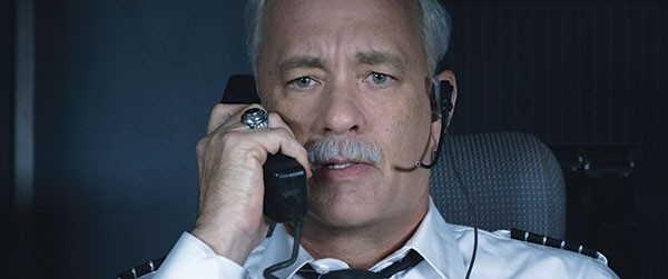 "Tom Hanks as Capt. Sullenberger: ""This is the captain. Prepare for impact."""