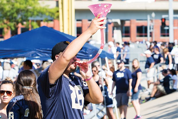 Revelers drink prior to the Sept. 10 Pitt vs. Penn State football game