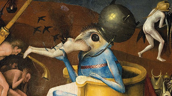 "Detail from Bosch's ""The Garden of Earthly Delights,"" circa 1494-1516 (Madrid Museo Nacional del Prado)"