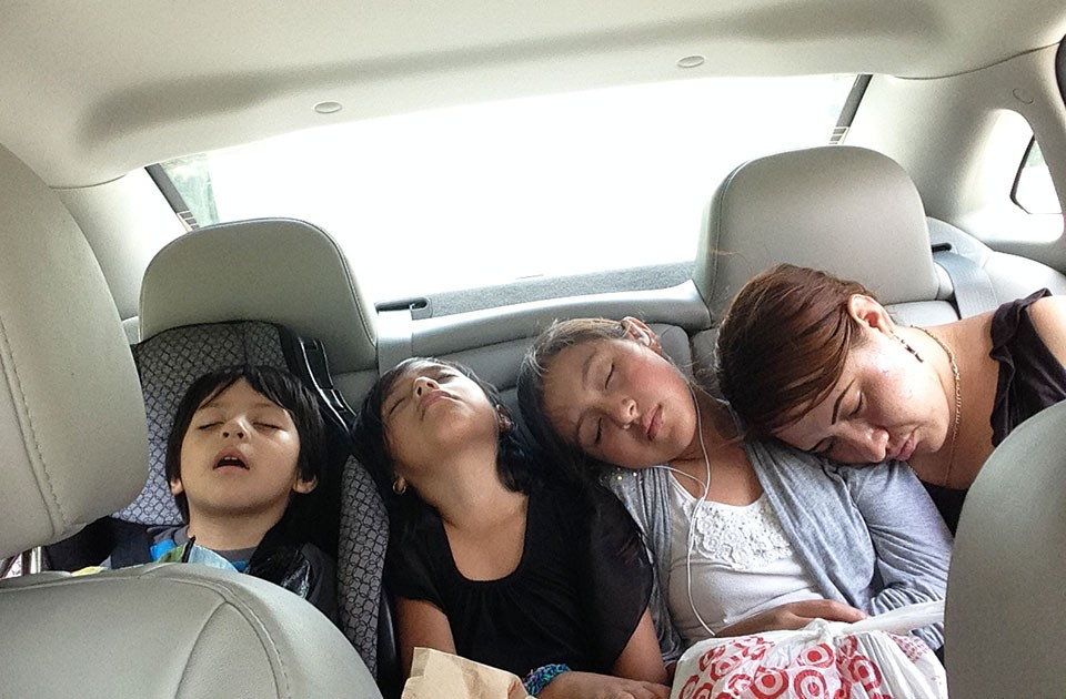 Martín's family on their way home from visiting Martín in jail - CP PHOTO BY RYAN DETO