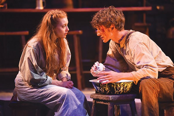 McKenna Slone and Joe Essig in Playboy of the Western World at Carnegie Mellon Drama