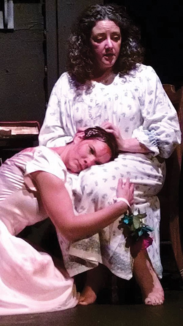 Lindsay Pingor Fitzpatrick (left) and Meighan Lloyd Harding in Carrie: The Musical, at Split Stage