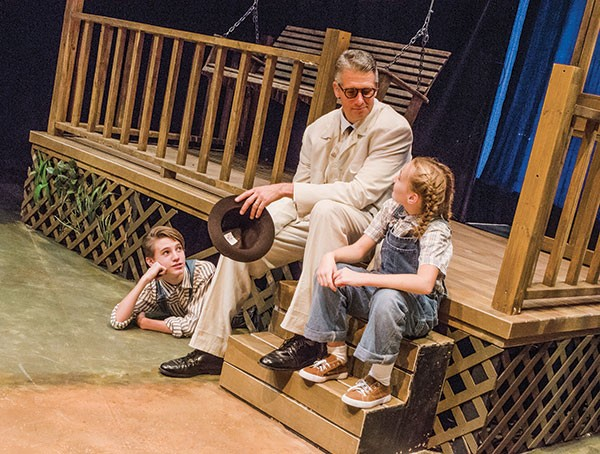 Left to right: Elliot Pullen, Brian Ceponis and Grace Vensel in Prime Stage's To Kill a Mockingbird