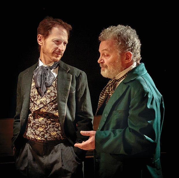 Leo Marks (left) and Sam Tsoutsouvas in Kinetic Theatre's Three Days in the Country