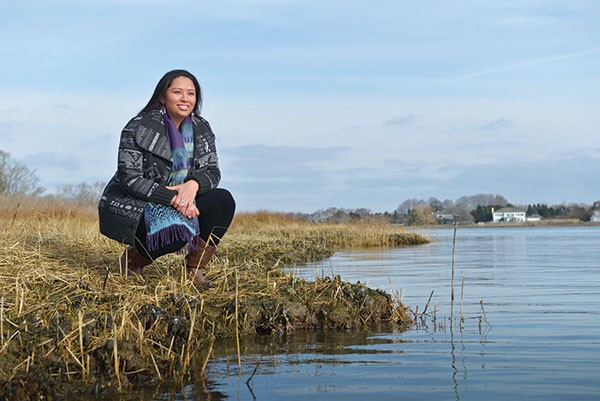Kelsey Leonard at the Shinnecock Indian Reservation in Long Island, N.Y. - PHOTO COURTESY OF DANIEL BRENNAN