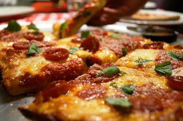 Rockaway Pizzeria's square pizza