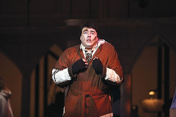 Quinn Patrick Shannon in The Hunchback of Notre Dame, at Pittsburgh Musical Theater