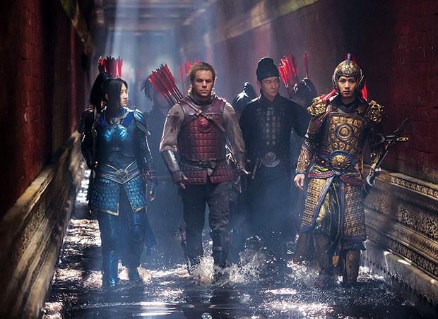 Team members Jing Tian, Matt Damon, Andy Lau and Cheney Chen