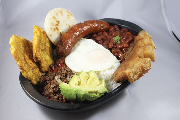Bandeja paisa Colombian platter - PHOTO COURTESY OF KAREN PERDOMO