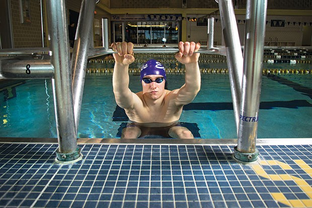 Making a splash: Sead Niksic - CP PHOTO BY JOHN HAMILTON