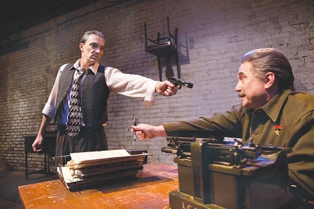 Tony Bingham (left) and Martin Giles in Quantum Theatre's Collaborators