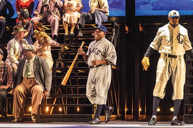 Alfred Walker (center) in The Summer King, at Pittsburgh Opera