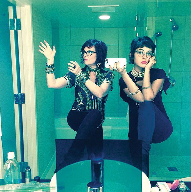 Nancy And Beth's Megan Mullally, left, and Stephanie Hunt