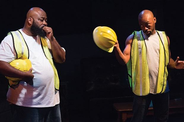 Sam Lothard (left) and LaMar Cheston in Hercules Didn't Wade in the Water, at Pittsburgh Playwrights