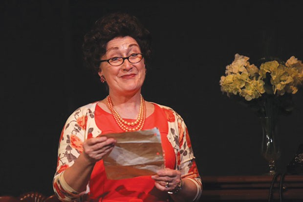 Allison Cahill in Tea for Three, at South Park Theatre