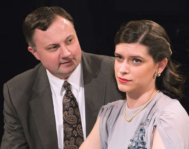 Eric Leslie and Carley Adams in The Philadelphia Story, at Little Lake