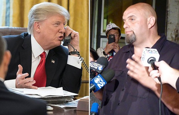 President Donald Trump (left) and Braddock Mayor John Fetterman (right) - WHITE HOUSE PRESS PHOTO/CP PHOTO BY RYAN DETO