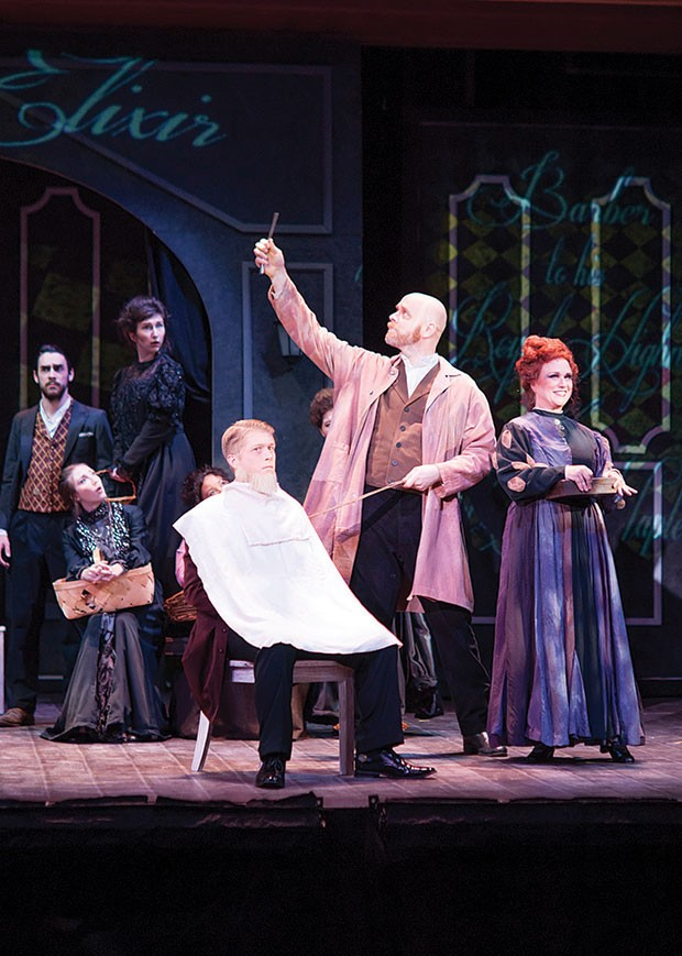 Andrew Cummings and Anna Singer (foreground) in Sweeney Todd at Pittsburgh Festival Opera