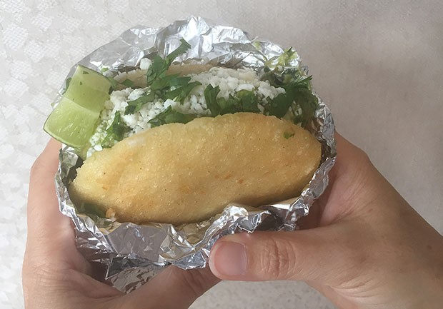 An arepa from Chevere - CP PHOTO BY LISA CUNNINGHAM
