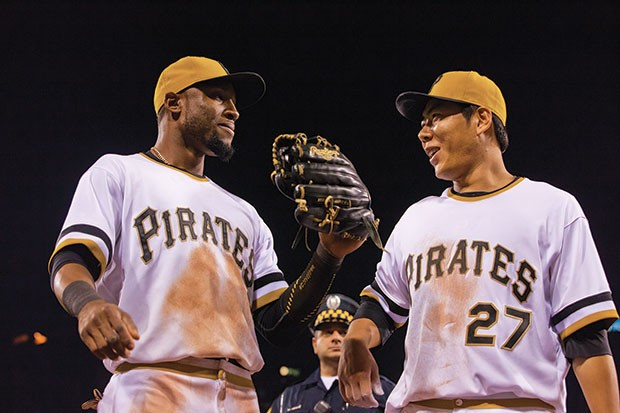 Starling Marte and Jung Ho Kang - CP FILE PHOTO