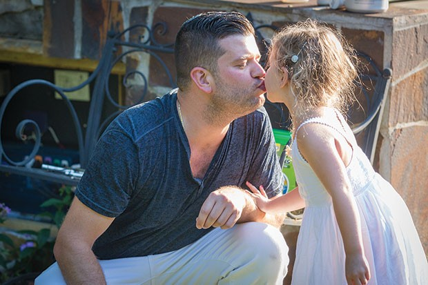 Steven D'Achille and his daughter Adriana - CP PHOTO BY RENEE ROSENSTEEL