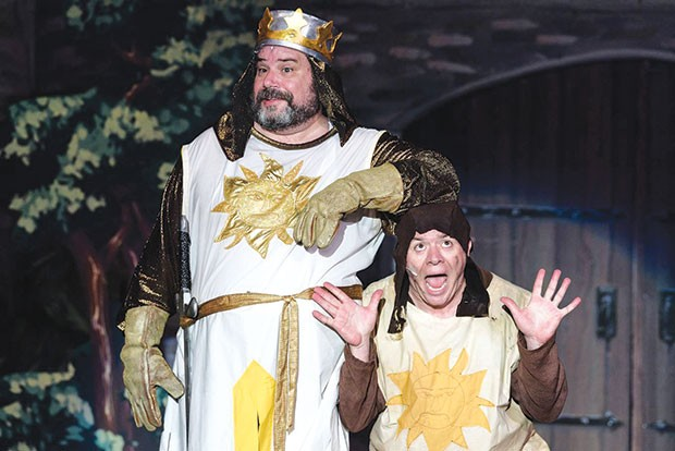 Rob James (left) and Carl Hunt in Spamalot, at Stage 62