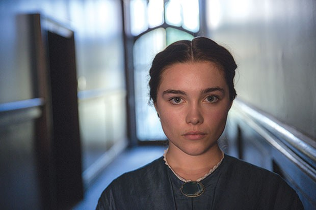 At home: Katherine (Florence Pugh)