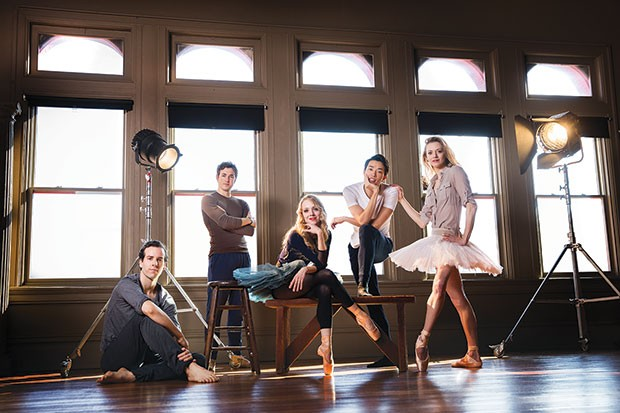 Left to right: Pittsburgh Ballet's Cooper Verona, William Moore, Amanda Cochrane, Yoshiaki Nakano and Julia Erickson