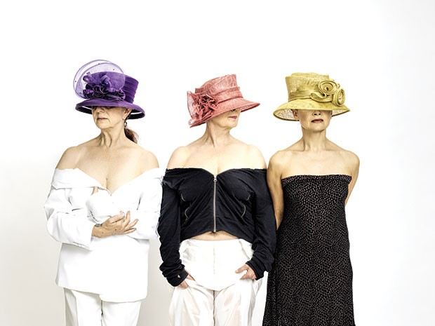 Left to right: Beth Corning,Laurie Van Wieren and Sally Rousse in CorningWorks' six a breast