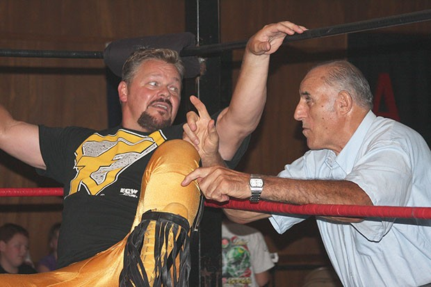 Pittsburgh wrestling icons Dominic Denucci, right, and Shane Douglas - PHOTO COURTESY OF HOWARD KERNATZ