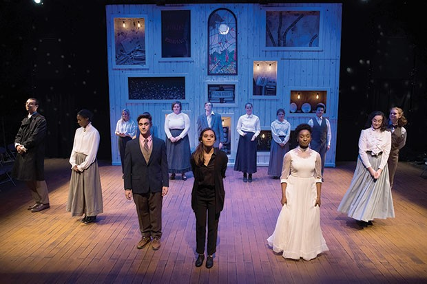 The cast of Our Town, at Pitt Stages