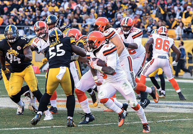 The Cleveland Browns at Heinz Field in 2017 - CP PHOTO BY LUKE THOR TRAVIS
