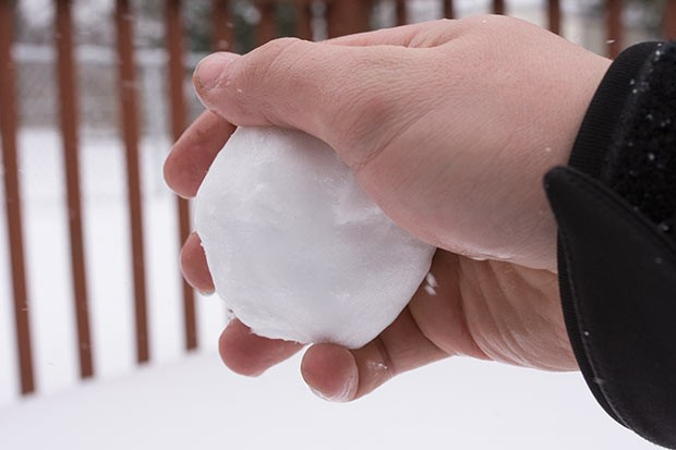 Make a snowball - CP PHOTO BY JAKE MYSLIWCZYK