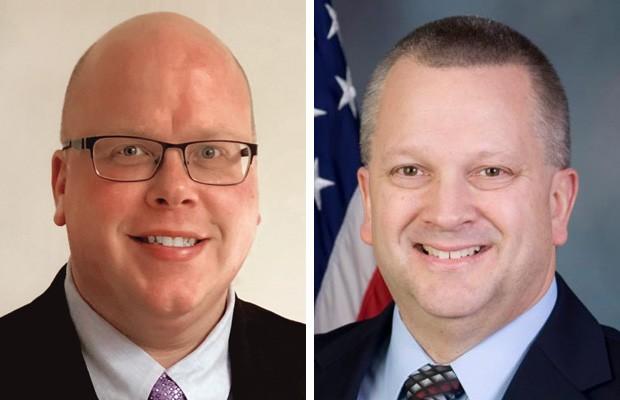 Dan Smith Jr. (left) and Daryl Metcalfe (rigth)