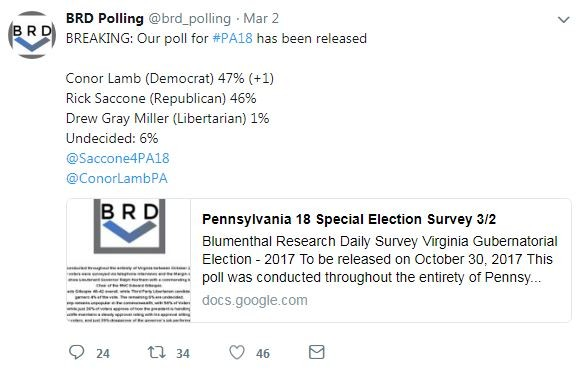 Screenshot of the fake PA-18 poll - IMAGE COURTESY OF TWITTER