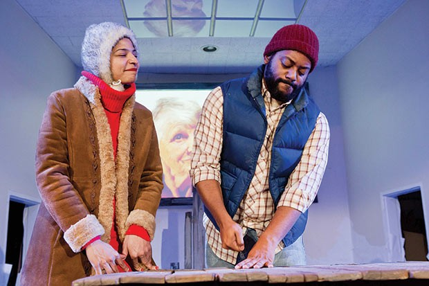 Kelsey Robinson and Kyle Haden in Inside Passage at Quantum Theatre - PHOTO COURTESY OF HEATHER MULL
